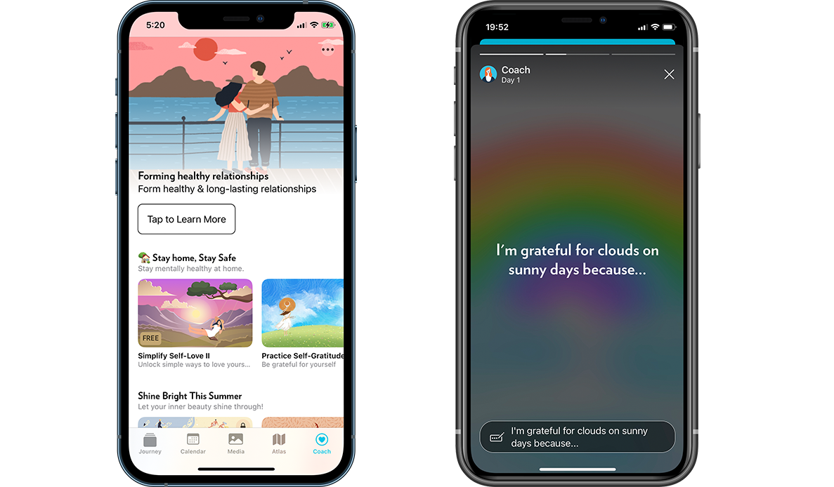 How Journey's Coach programs look and work on iOS