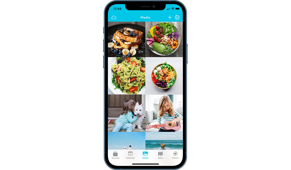 How you can add food pictures into your fitness journal using Journey