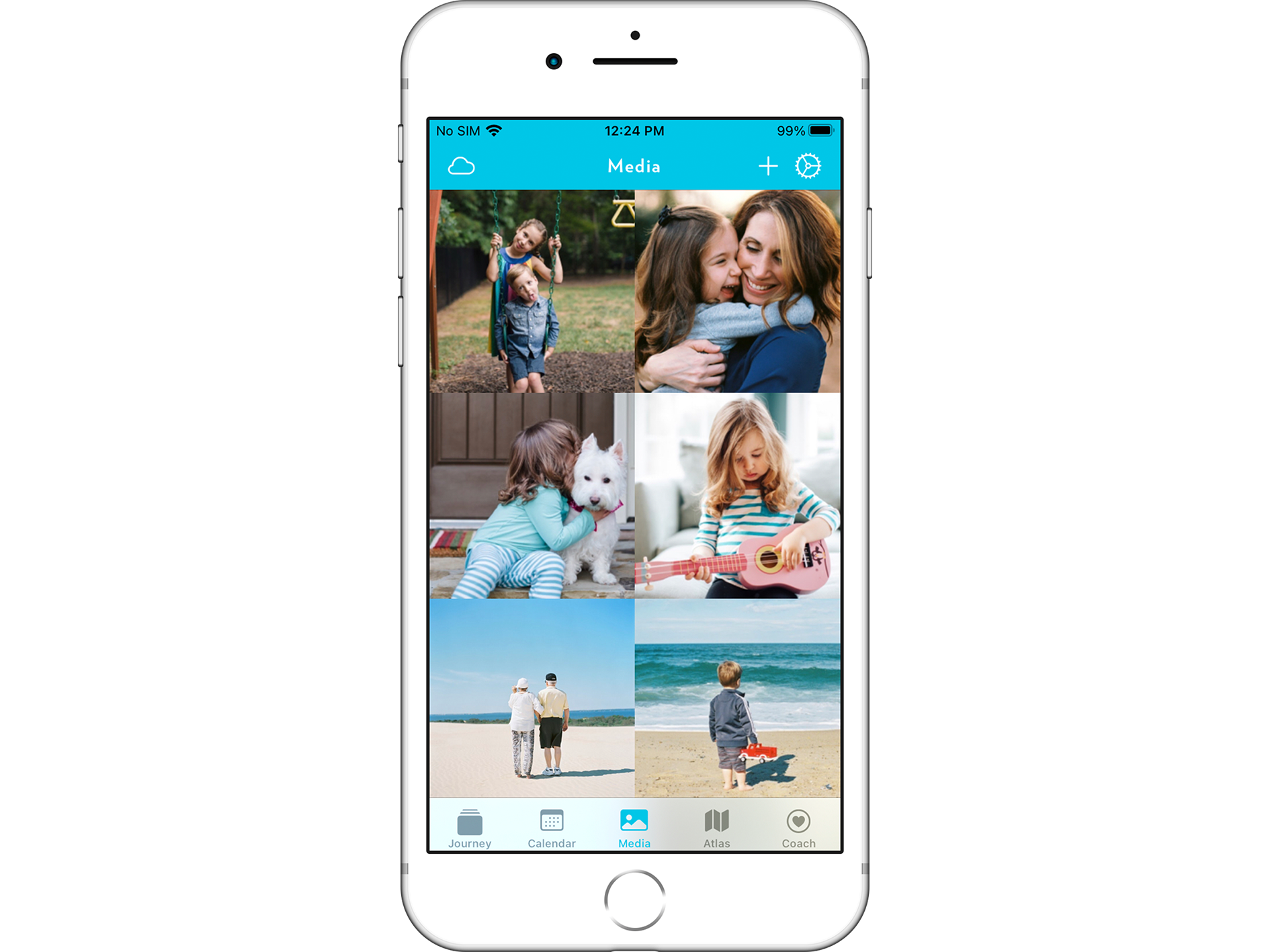 Upload pictures and videos of fond memories onto Journey